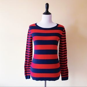 Tommy Hilfiger Womens Sweater Blue Red Striped